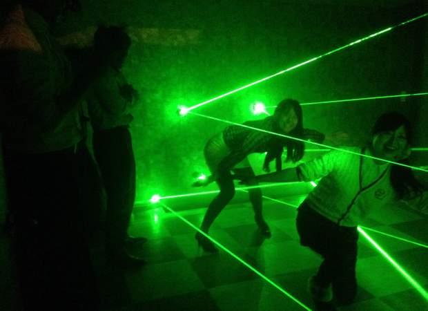 東新宿【レーザーと謎解きが楽しめる 脱出ゲーム】ダンジョンからの脱出