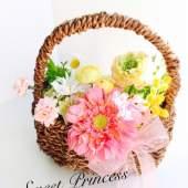 (アレンジ一例)大きなお花の小物入れ。なにを入れようかワクワクしますね!