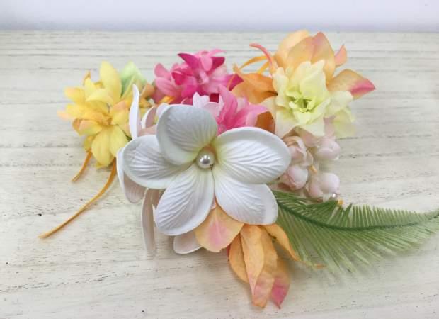 人形町【お花は好きですか?】アーティフィシャルフラワーアレンジで髪飾りづくり