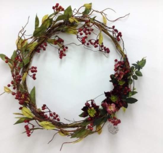(作品例)赤い木の実とダリアンのドアリース